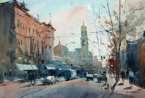 Painting by Eugen Chisnicean