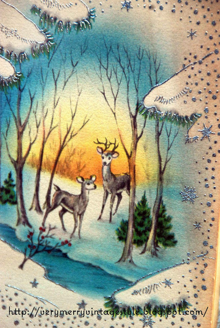 Vintage Reindeer CardfromVerryMerryVintagestyleblogspot