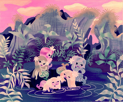 4Peter Pan Mermaids - Mary Blair - fromMiehanablogspot