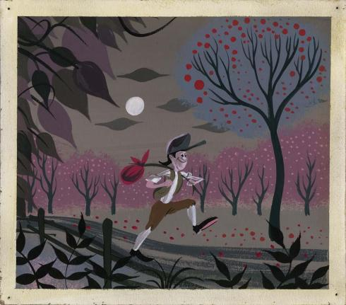 Mary Blair original concept painting of Johnny Appleseed for Melody Time